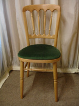 Beechwood Chair with Forest Green Pad