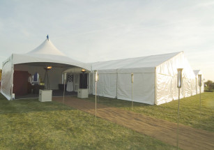 Chinese Hat Entrance to 12m Marquee