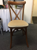 Cross Back Chair with Ivory Pad 1