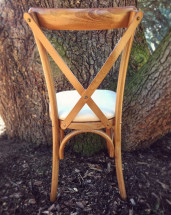 Crossback chair with ivory pad