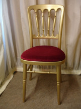 Gilt Chair with Burgundy Pad