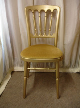 Gilt Chair with Gold Pad