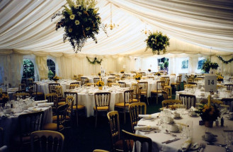 Ivory Pleated Linings with Ivory Pelmets Hanging Baskets
