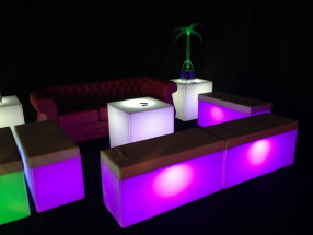 LED Cube Seats in Purple