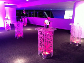 LED Swirled Poser Tables