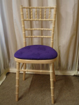 Limed Oak Chiavari Chair with Purple Pad