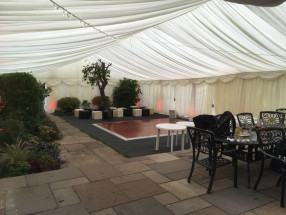 Marquee with garden inside 2