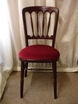 Rosewood Chair with Burgundy Pad