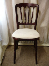 Rosewood Chair with Ivory Pad