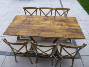 Rustic Trestle Table 6ft x 3ft
