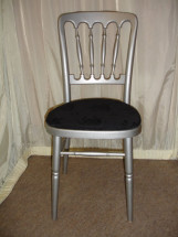 Silver Chair with Black Pad