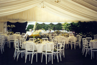 White Banqueting Chairs for a Wedding