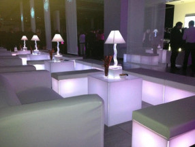 White LED Cube Seats