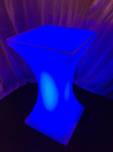 LED Poseur Table Blue