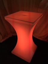LED Poseur Table Orange
