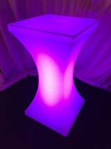 LED Poseur Table Purple