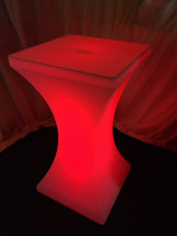 LED Poseur Table Red