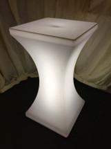 LED Poseur Table White