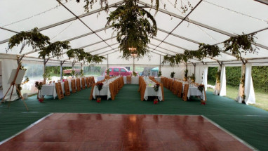 Unlined Marquee with Branch Decorations