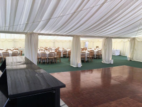 Dance Floor Marquee Joined to Dining Marquee