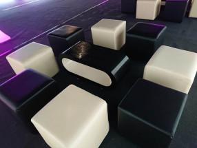 Black & Ivory Cube Seats