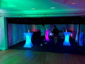 Marquee 6m x 6m, Starlight Ceiling & LED Poseur Tables