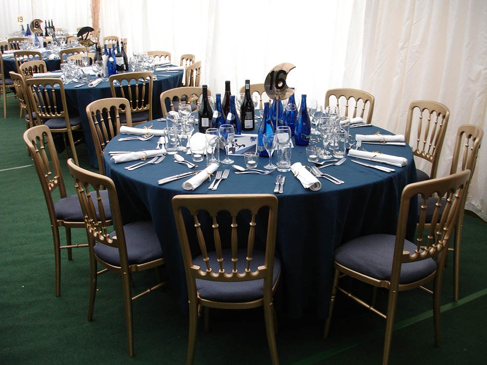 5 Foot by 6 Foot Table of 10 Wedding Marquee