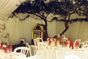 Marquee Built Around Apple Tree