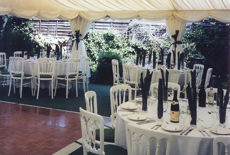 Ivory Pleated Linings Marquee With Open Walls