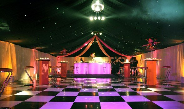 Starlight Black White Dance Floor in Marquee