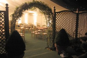Marquee With Trellis Arch