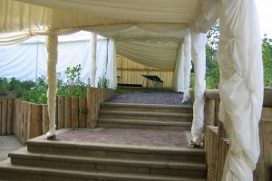 Marquee Over Walkway Up Stairs