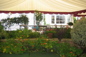 Marquee With Flower Beds