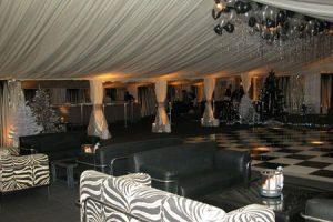 Zebra Skin Lounge Marquee Theme