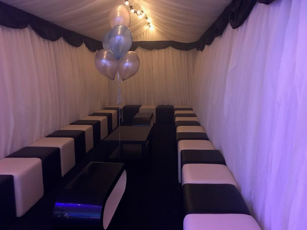 Themed Marquee Tables and Lighting