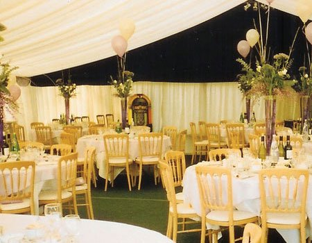 winter wedding marquee