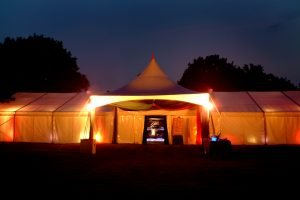 Chinese Hat Marquee at Night