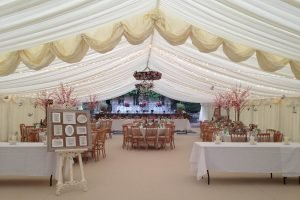 Ivory Lining Marquee