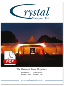 Crystal Marquee Hire Brochure