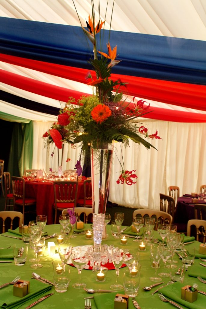 Marquee Table Decorations