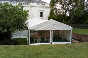 6m Marquee with Panoramic Window Panels