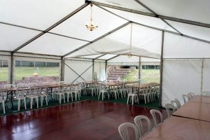 9m Marquee Joined to a 6m Marquee